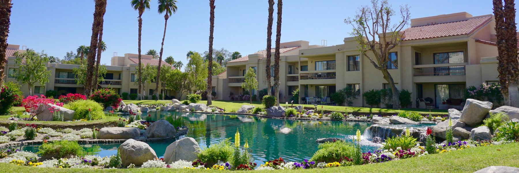 Canyon Shores is a community of attached homes in Cathedral City California