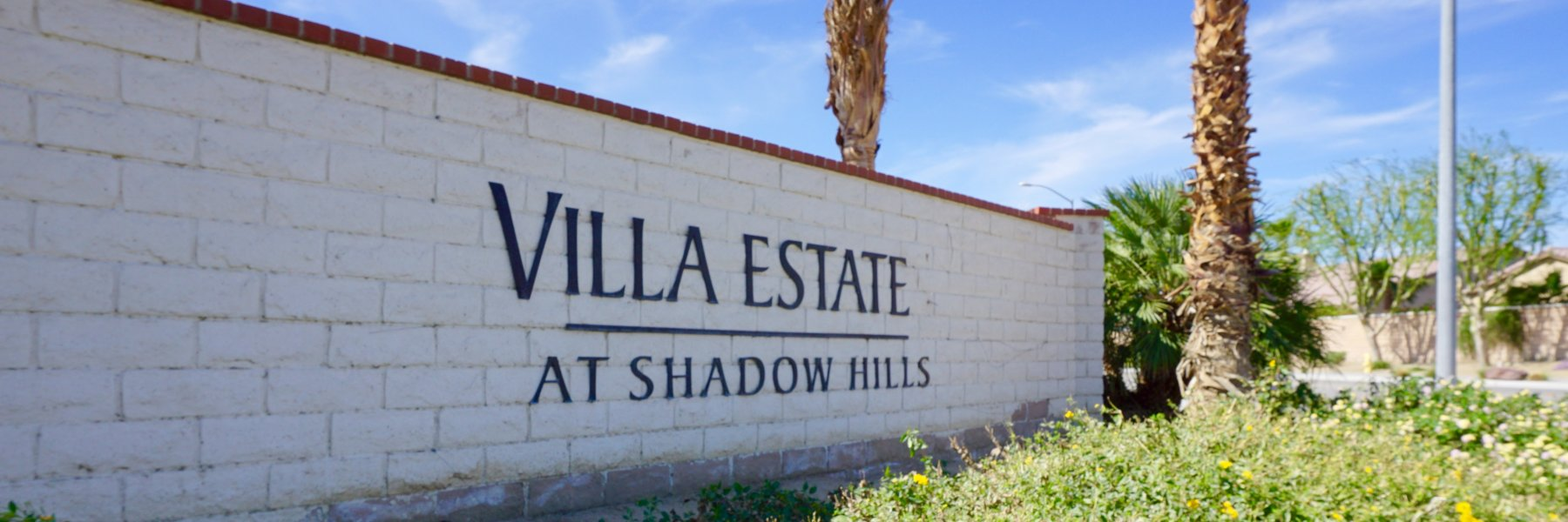 Shadow Hills Villas is a neighborhood of homes in Indio California