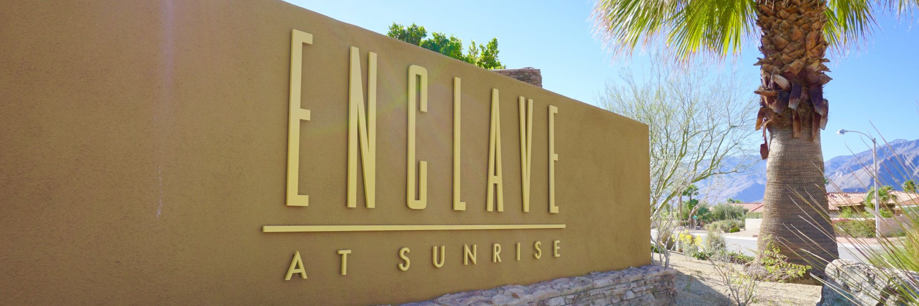 Enclave at Sunrise is a community of homes in Palm Springs California