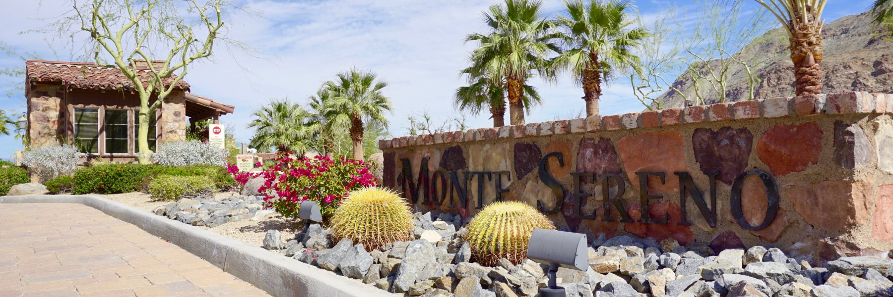 Monte Sereno is a community of homes in Palm Springs California