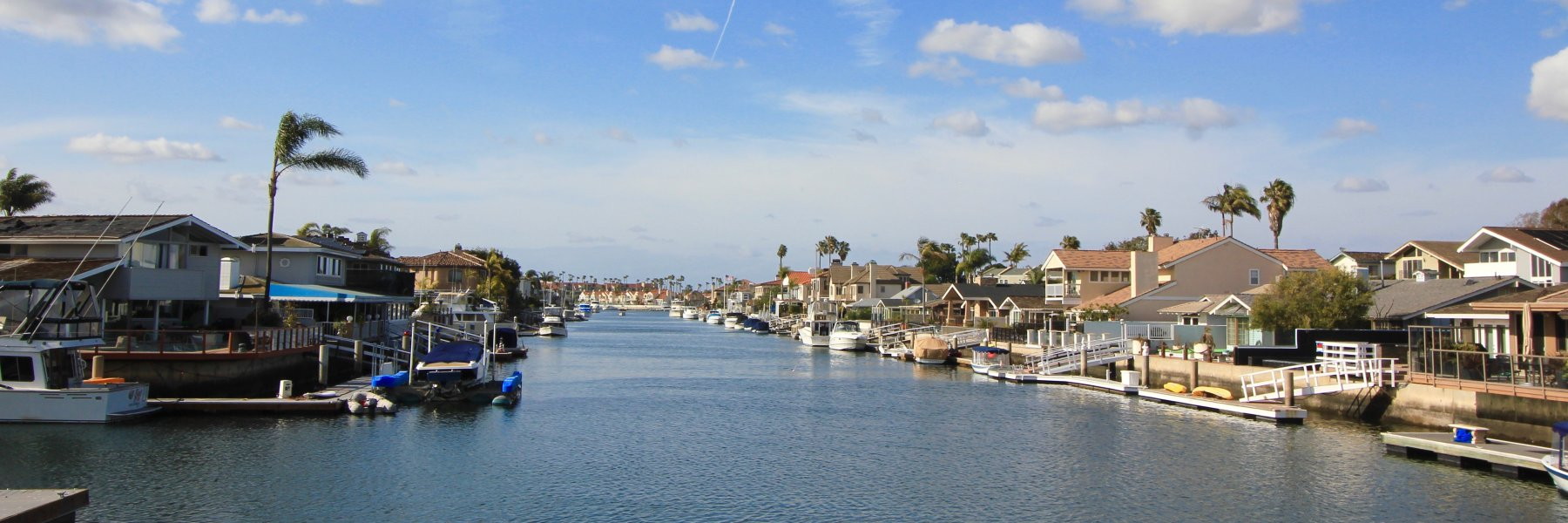 Huntington Harbour is a community of homes in Huntington Beach California