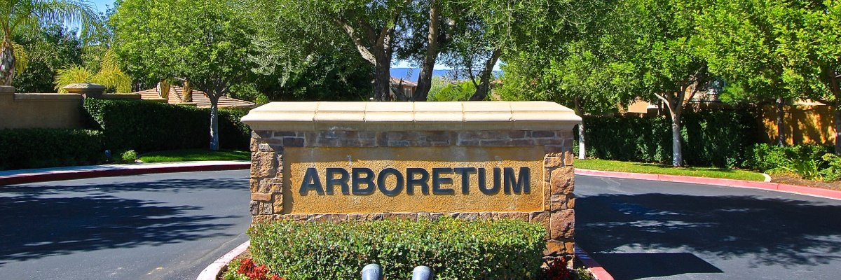 Arboretum Community Marquee in Murrieta Ca