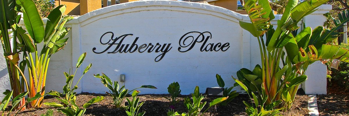 Auberry Place Community Marquee in Temecula Ca
