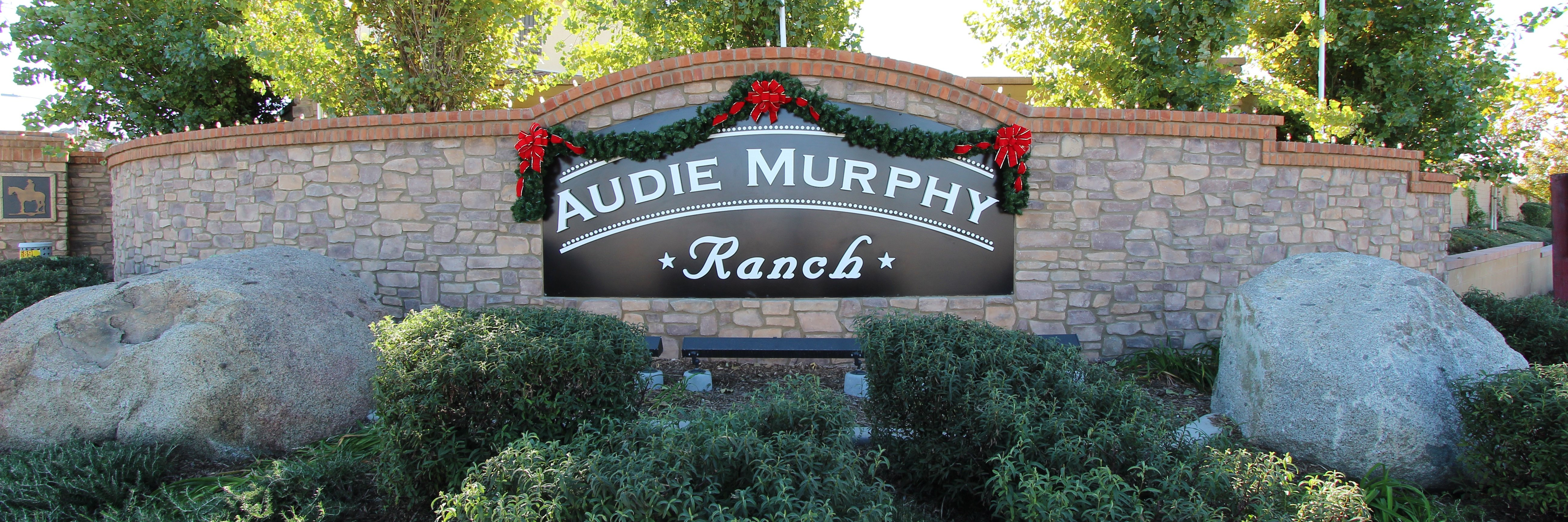 Audie Murphy Ranch Community Marquee in Menifee Ca