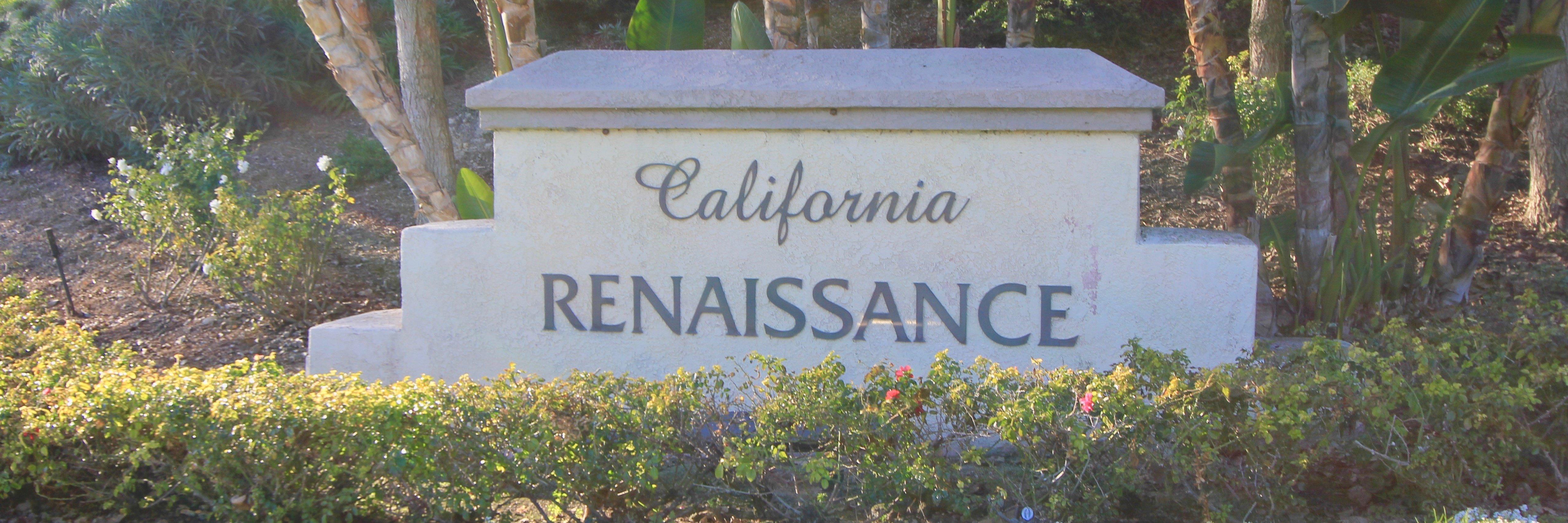California Renaissance Community Marquee in Aliso Viejo Ca