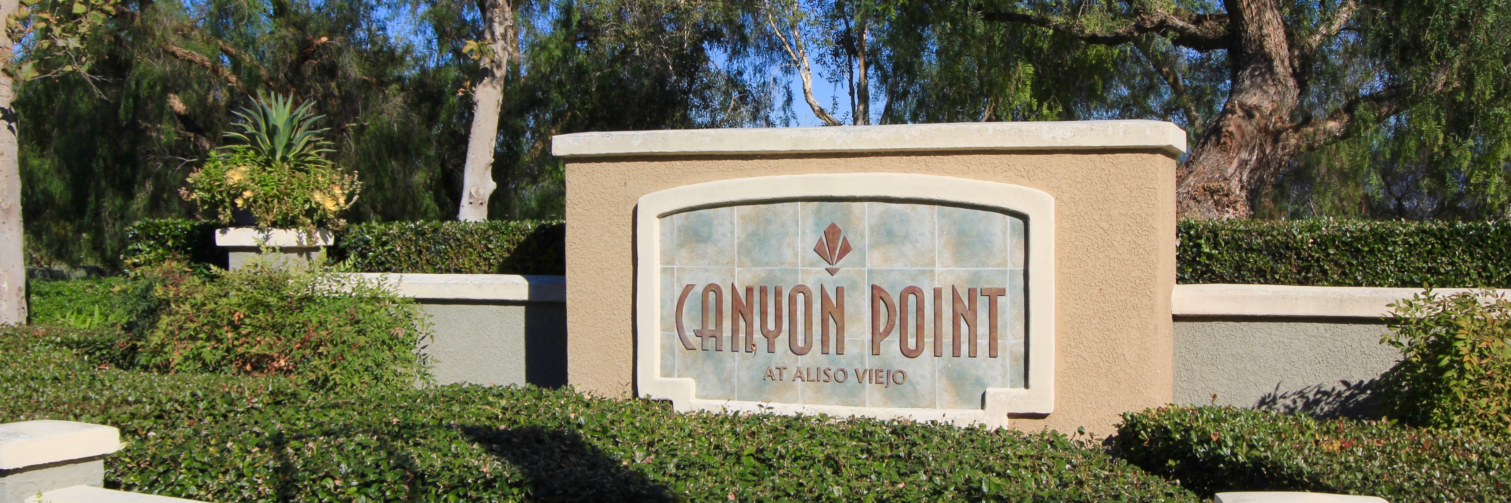 Canyon Point Community Marquee in Aliso Viejo Ca