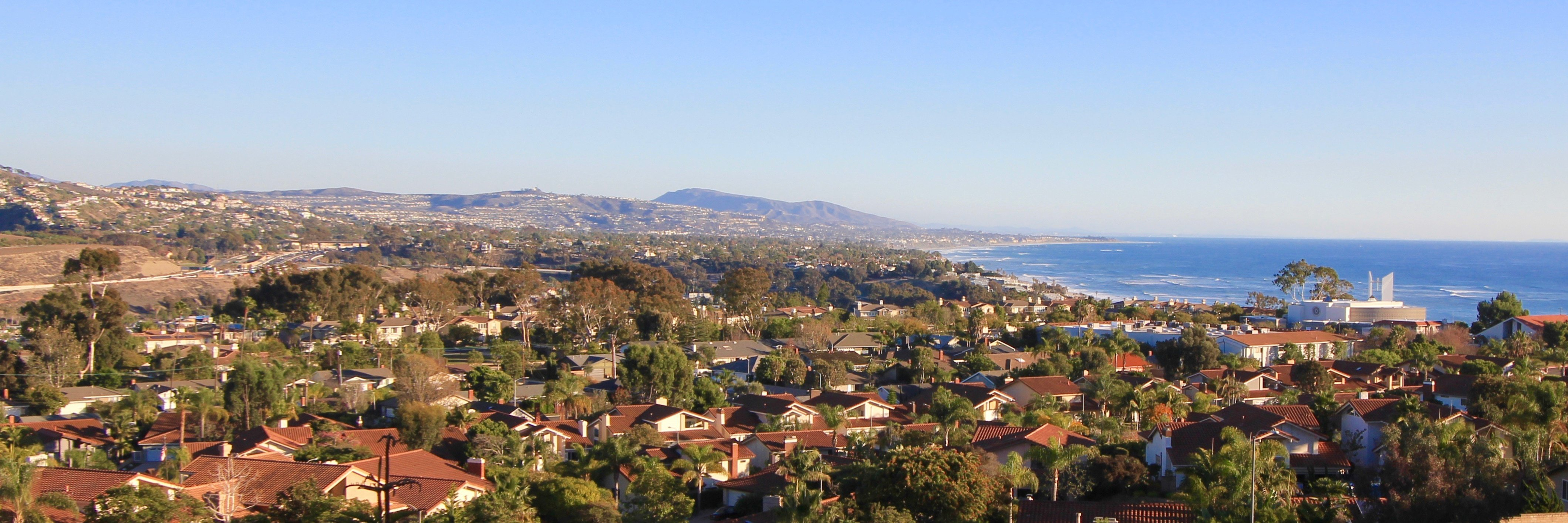 See all the way to the harbor from Diamond Ridge Estates