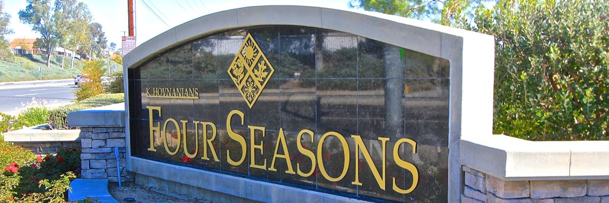 Four Seasons Community Marquee in Murrieta Ca