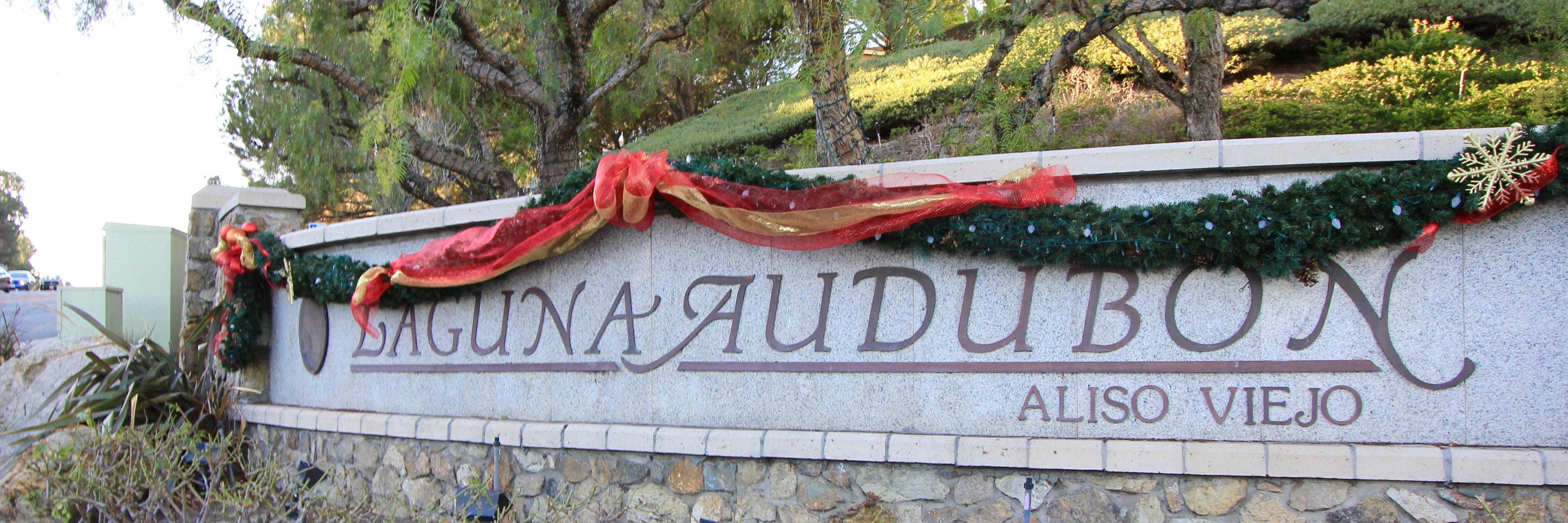 Laguna Audubon Community Marquee in Aliso Viejo Ca