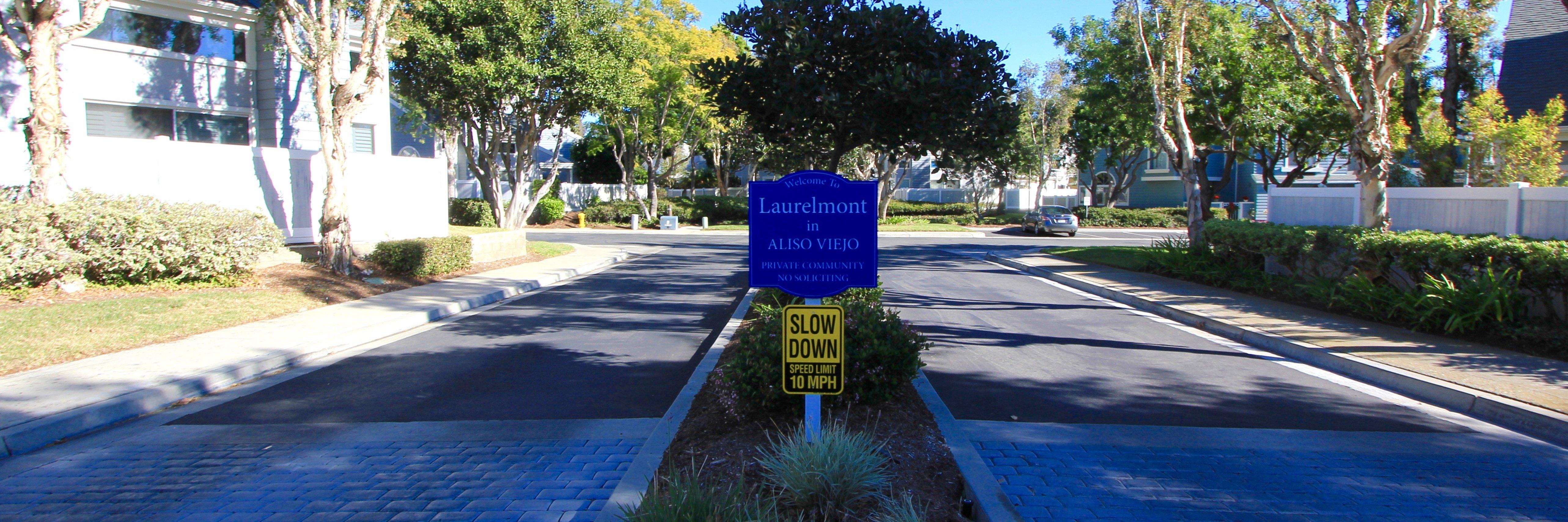 Laurelmont Community Marquee in Aliso Viejo Ca