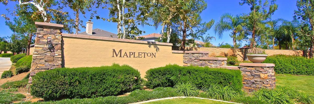 Mapleton Community Marquee in Murrieta Ca