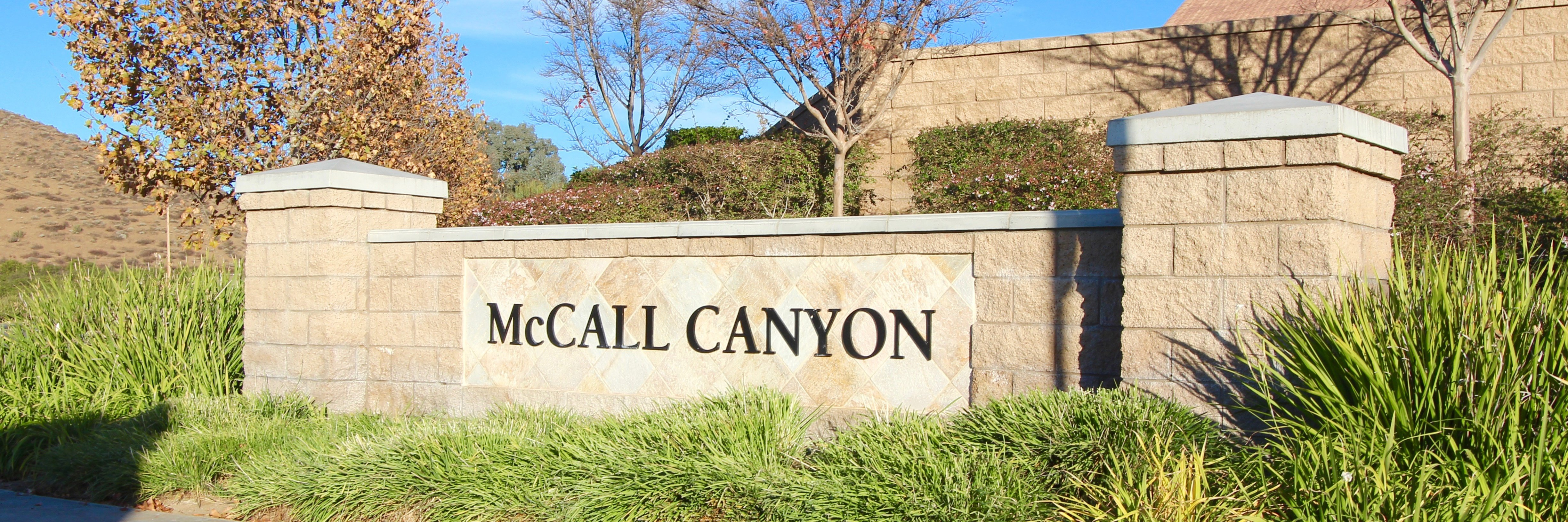 Mccall Canyon Community Marquee in Menifee Ca