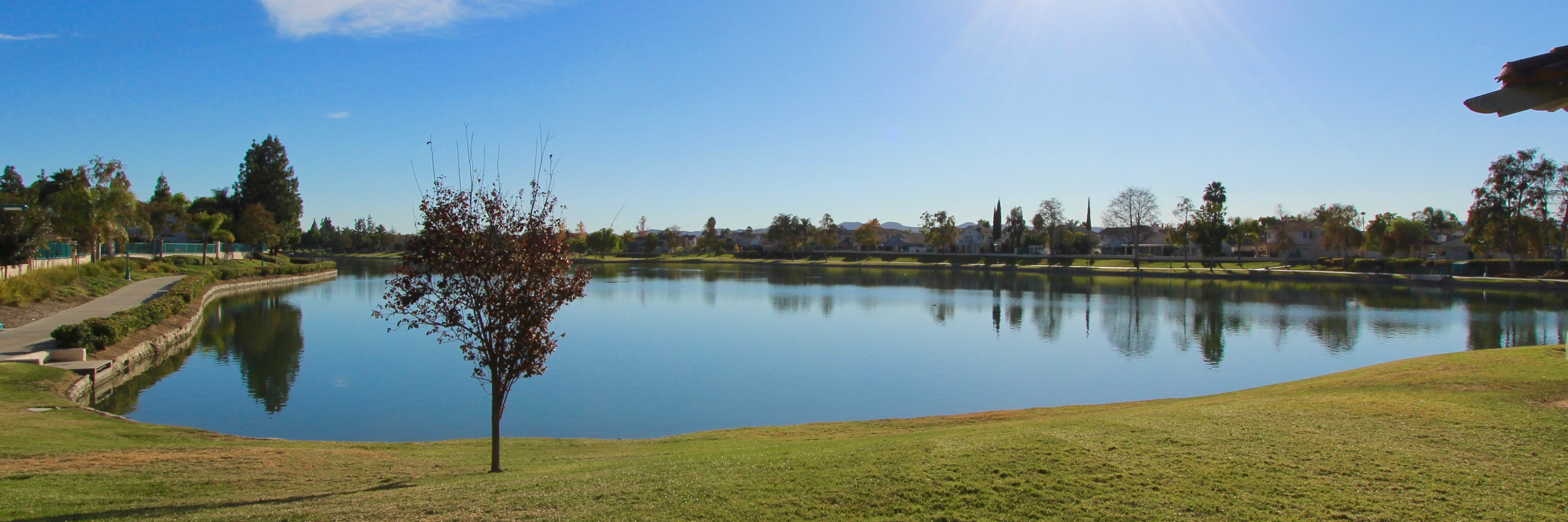 Menifee Lakes boasts a large man made lake