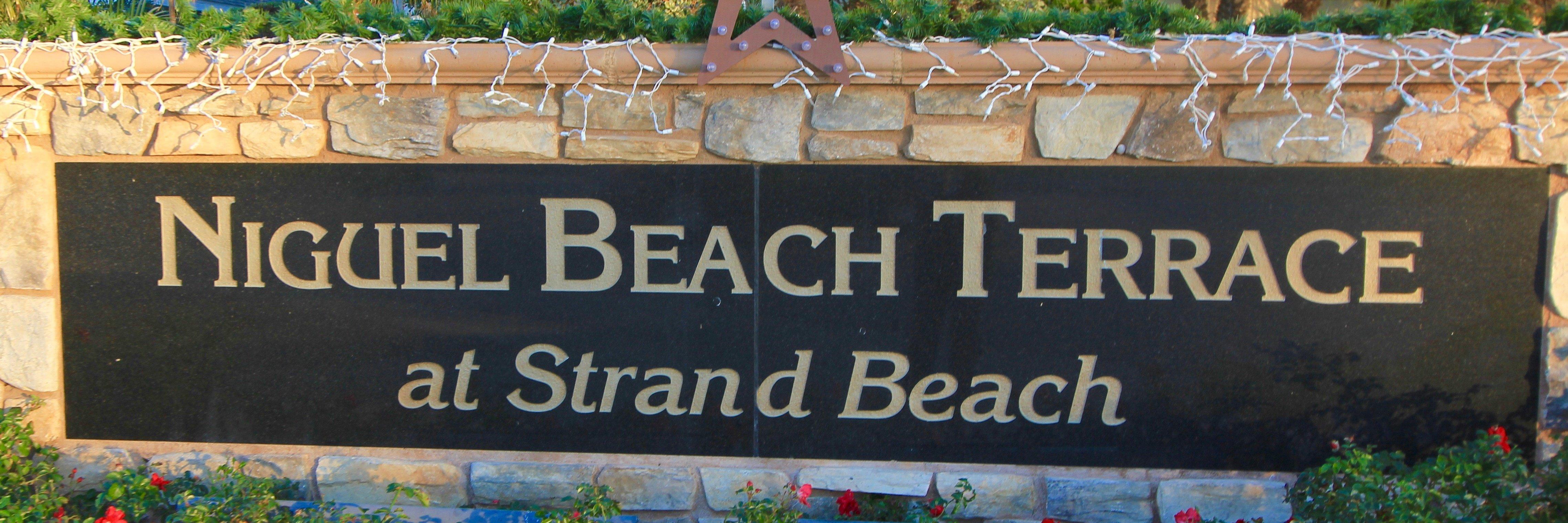 Niguel Beach Terrace Community Marquee located in Dana Point Ca