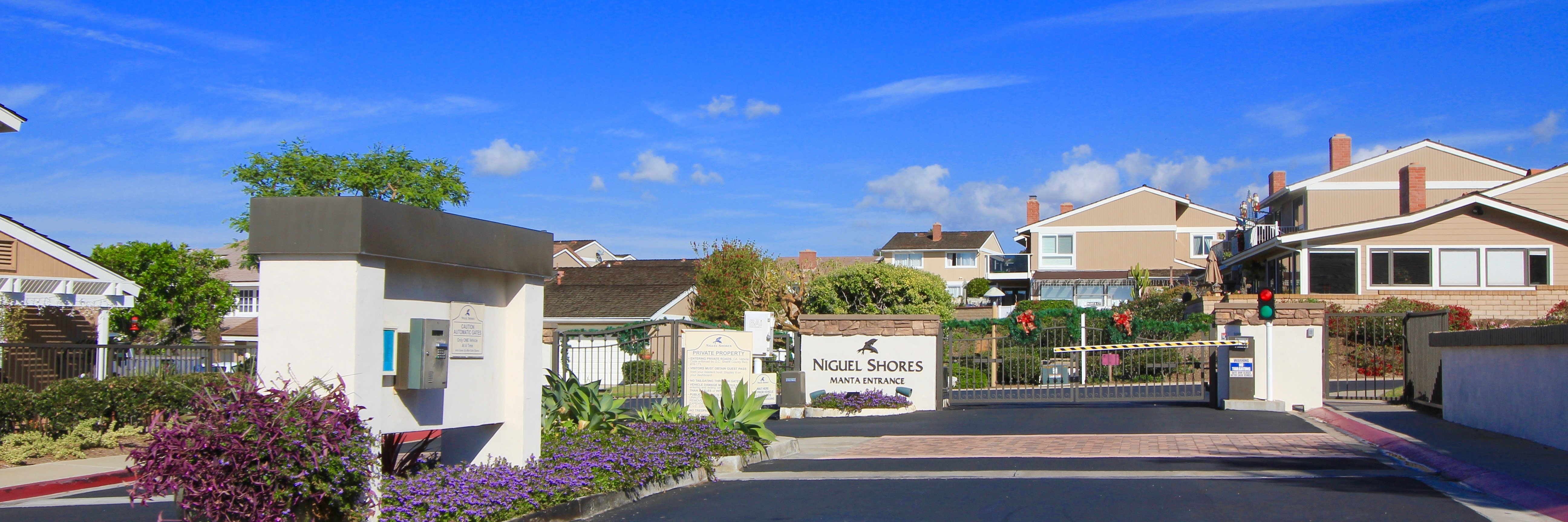 Niguel Shores is a gated community located in Dana Point California