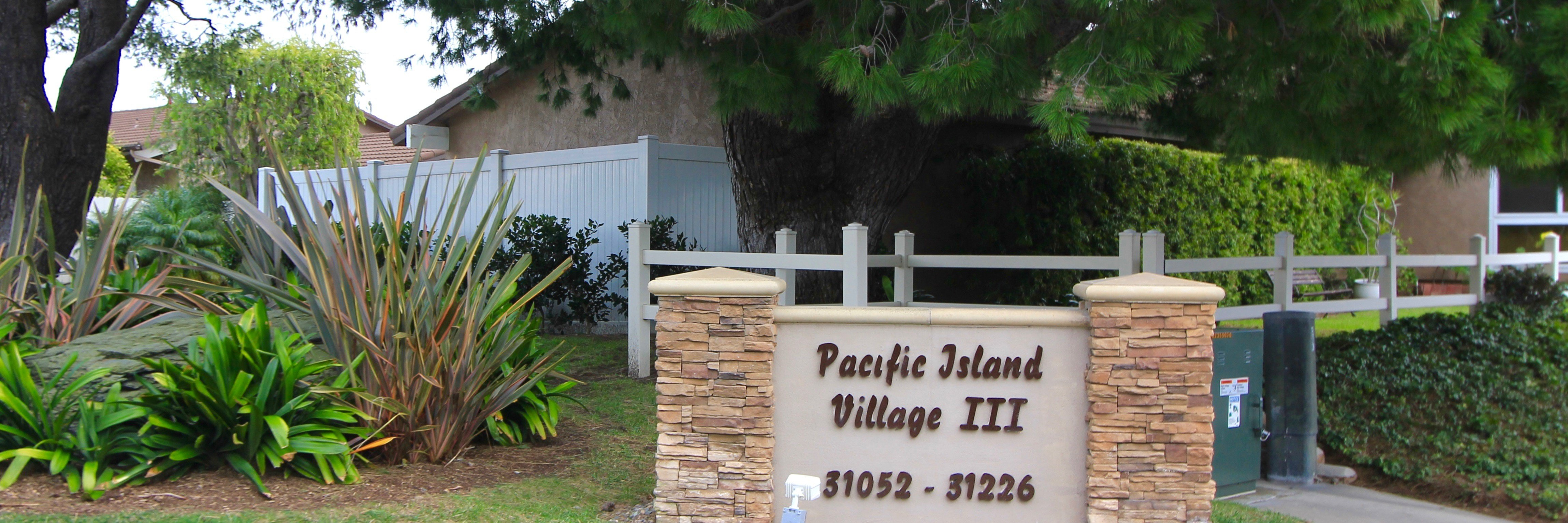 Pacific Island Village is a neighborhood of homes located in Laguna Niguel California