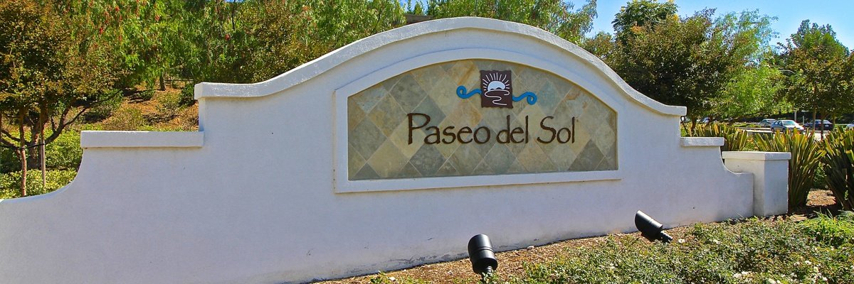 Paseo Del Sol Community Marquee in Temecula Ca