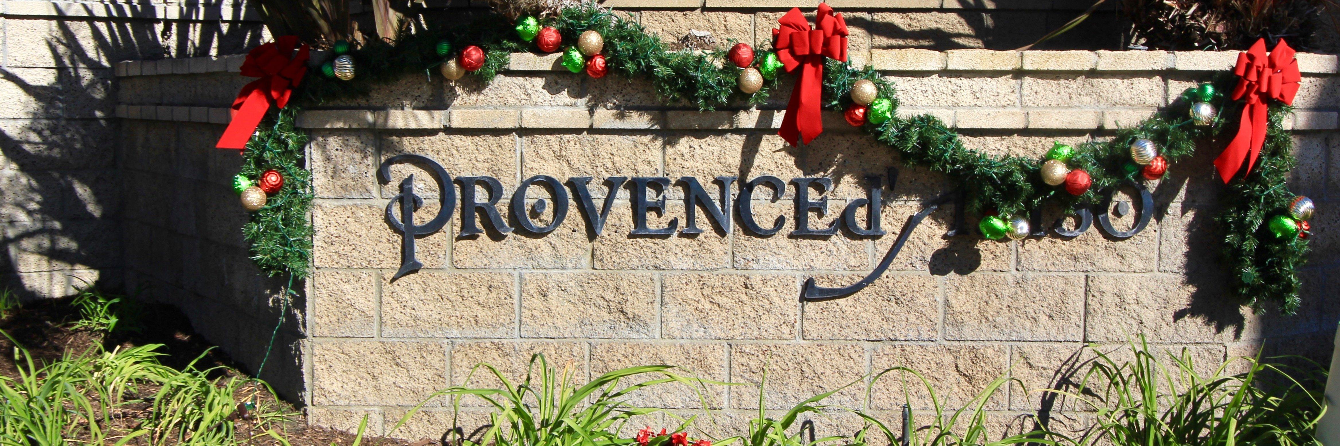 Provence D' Aliso Community Marquee in Aliso Viejo Ca