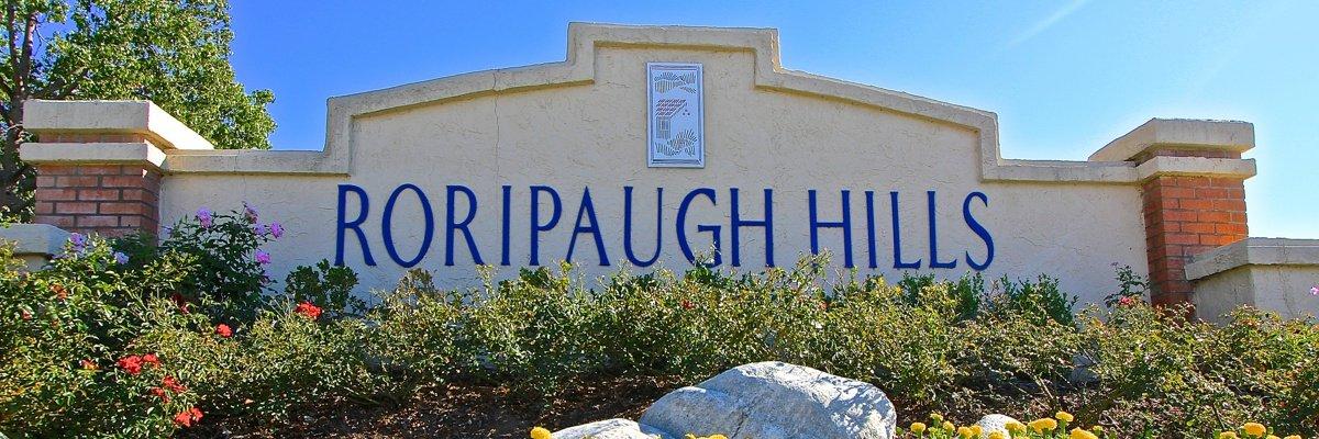 Roripaugh Hills Community Marquee in Temecula Ca