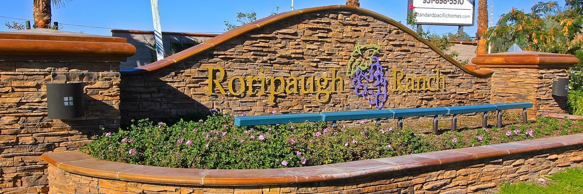 Roripaugh Ranch Community Marquee in Temecula Ca