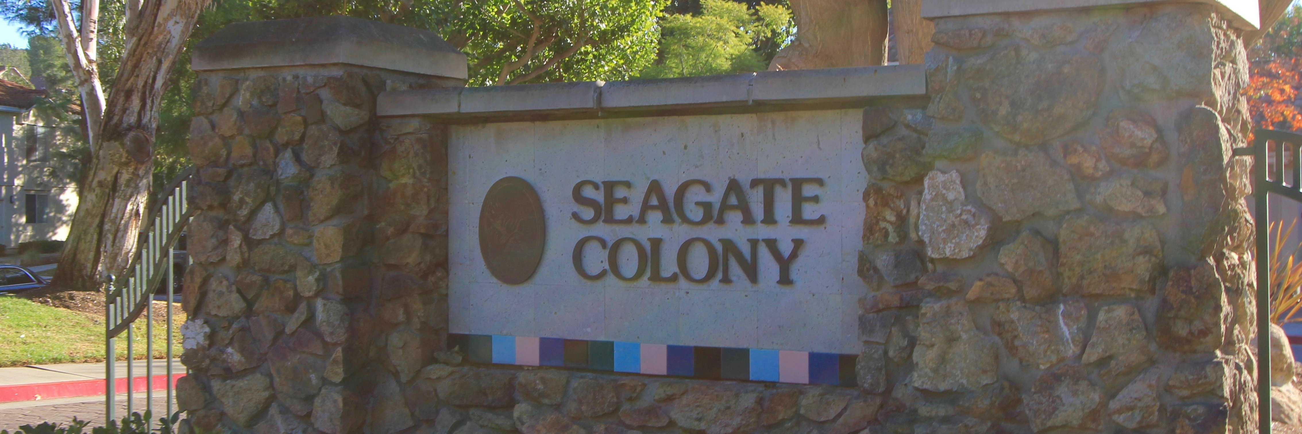 Seagate Colony Community Marquee in Aliso Viejo Ca