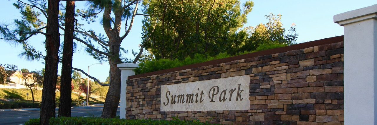 Summit park is a community located in Anaheim Hills CA