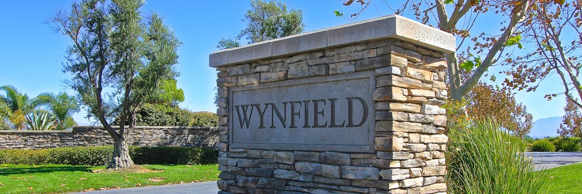 Wynfield Estates Community Marquee in Murrieta CA