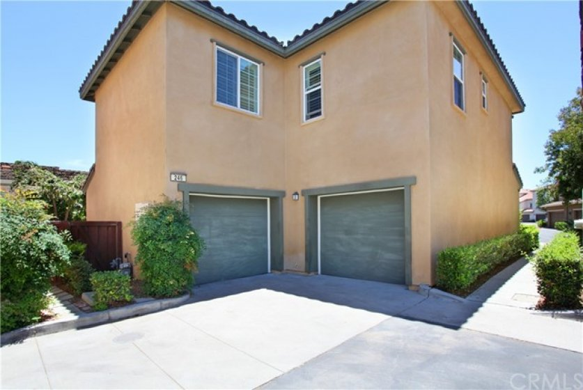 2 single garages with remotes.