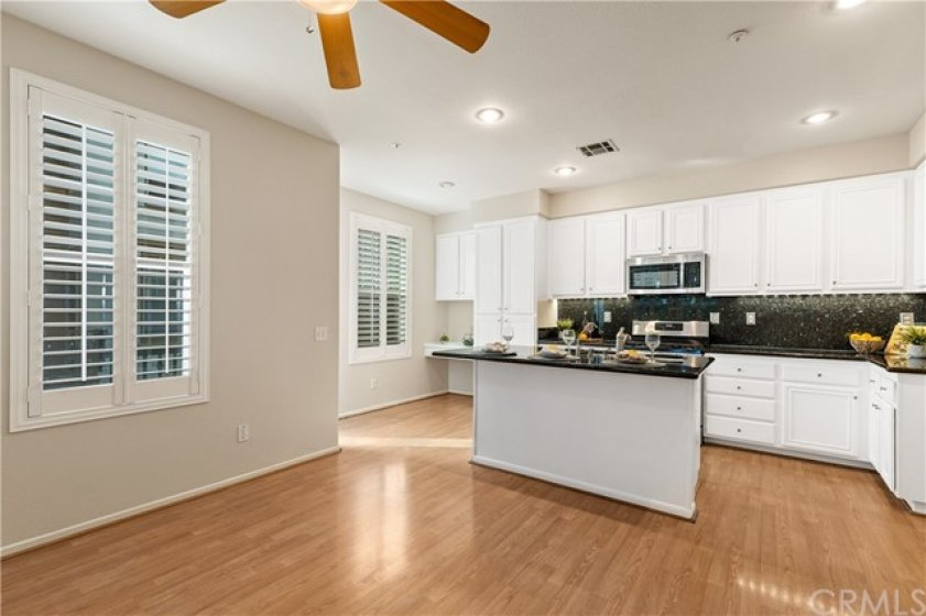 Kitchen is open to family room