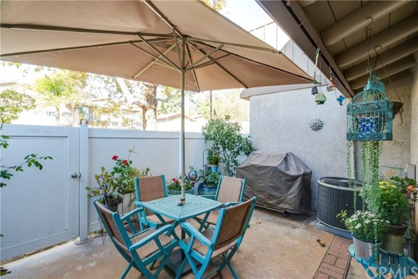 Spacious Patio w/ Vinyl Fencing