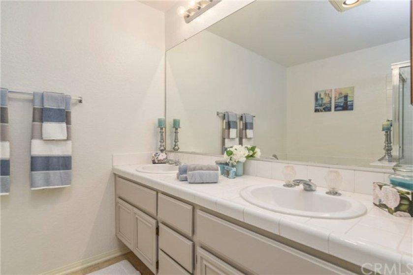 Master bath has dual sinks