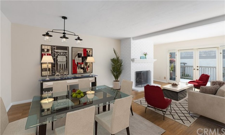 Virtually Staged Living Dining areas