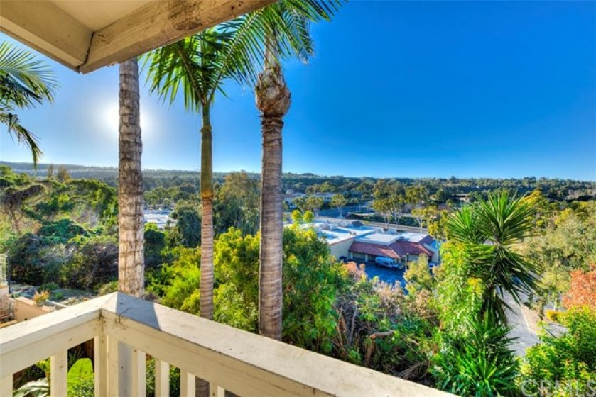 Beautiful view from the Master Bedroom balcony.