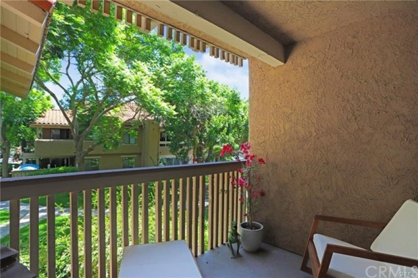 Enjoy the privacy of the covered patio just off the Master bedroom.