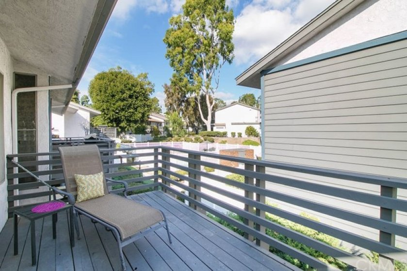 One of my favorite features of this home is this spacious balcony!