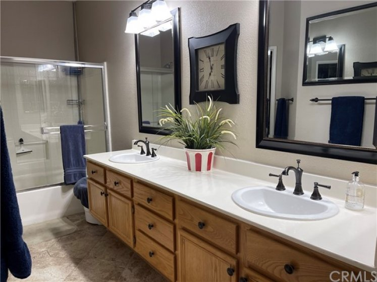 Full master bathroom with double sinks