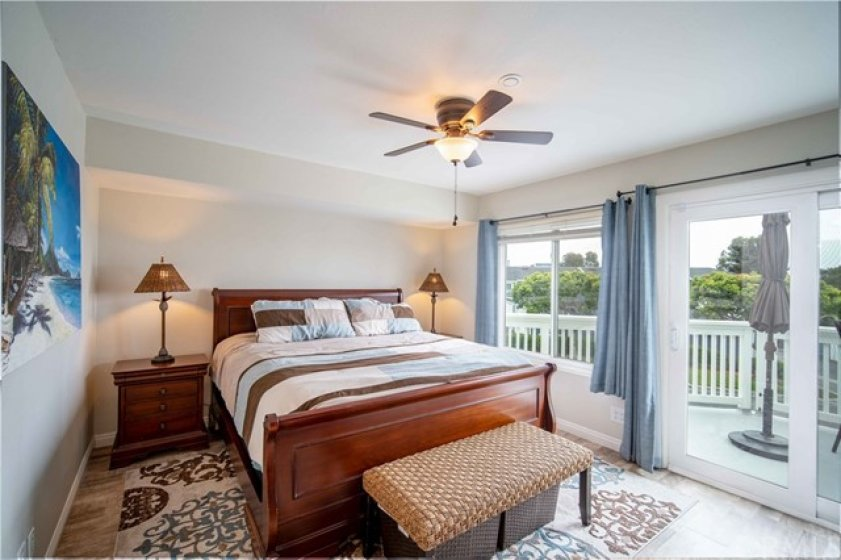 Master bedroom with huge private deck!