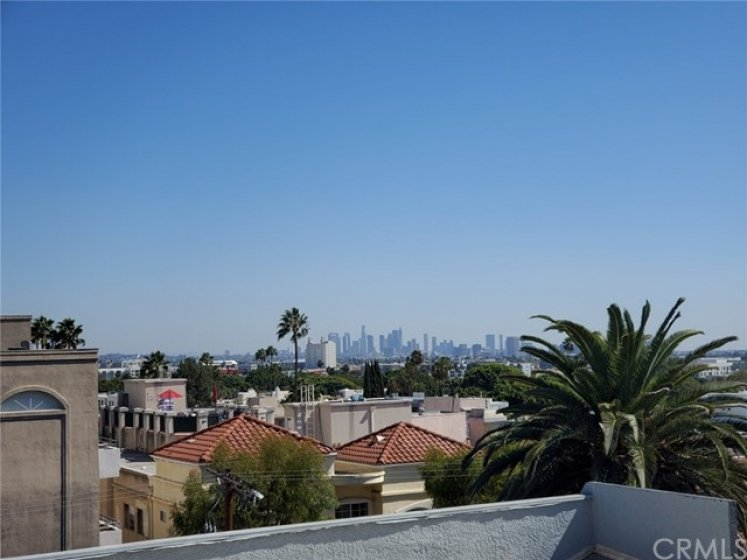Rooftop view of LA Skyline!