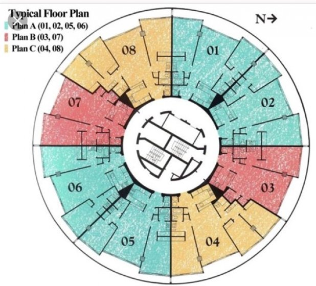 Floor plan for every level each unit