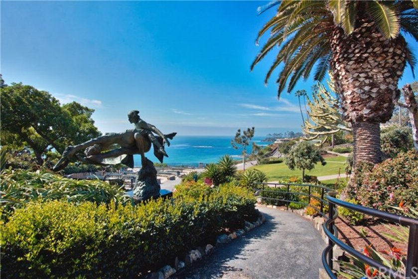 This condo looks right out to Heisler Park.