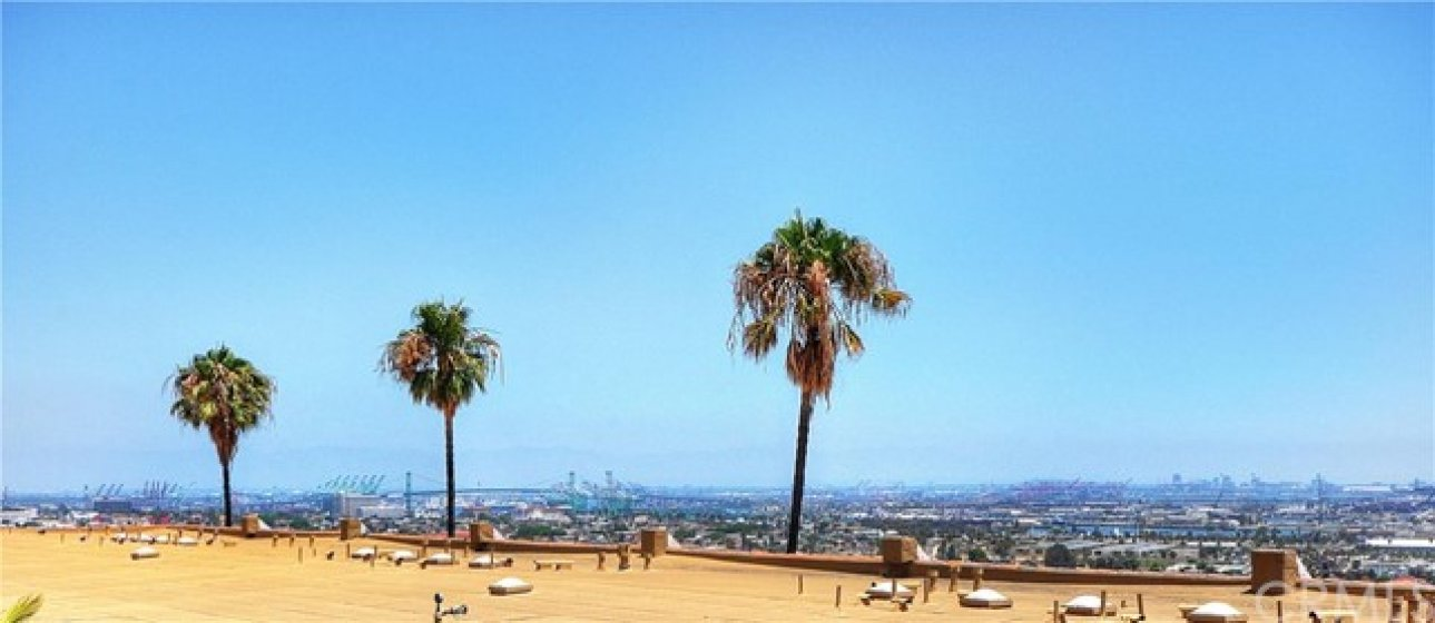 Panoramic view of Port of Los Angeles