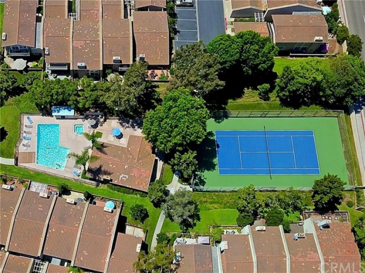 Tennis courts, pool and spa