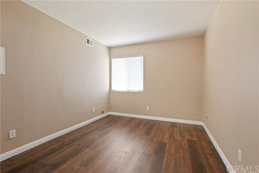 Downstairs bedroom, currently used as family room/office