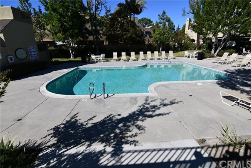 Here is your community pool, located just a few steps from your new home. But not to close so the noise is not an issue. Off to the right of this photo is a community spa. And to the left are restrooms and a shower.