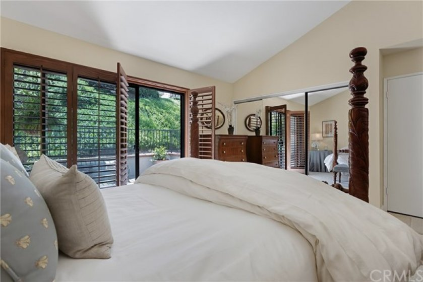 Master bedroom with private patio.