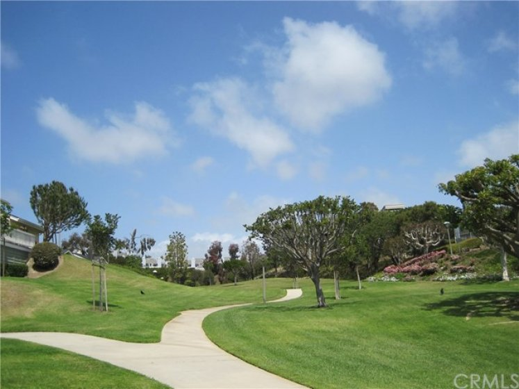 Large park-like greenbelt