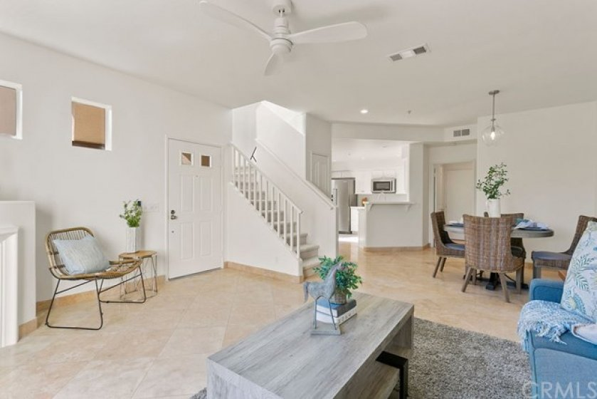 Open concept floor plan with access to dining area and new kitchen.