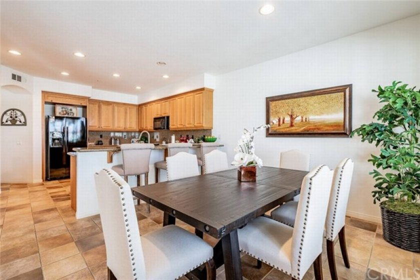 Spacious Kitchen with granite counter tops and breakfast bar.