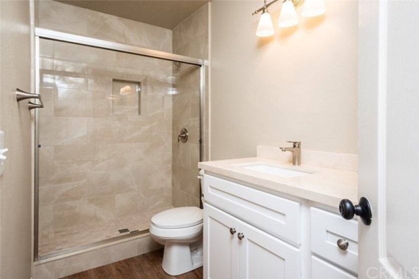 Remodeled second master bathroom