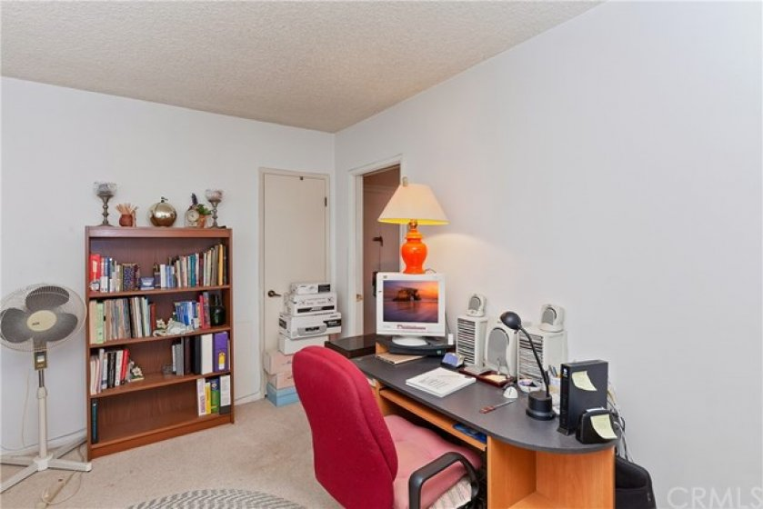 Office/den area can easily be used as a large 2nd bdr.  It has two closets!